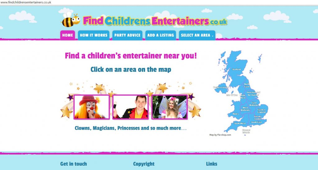 Find Childrens Entertainers
